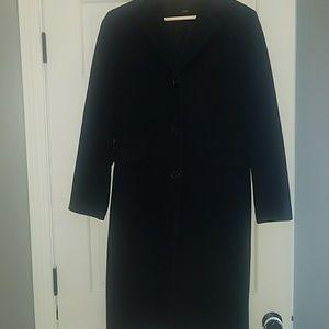Black Jcrew long wool pea coat